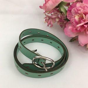 Fossil Mint Green Leather Belt L